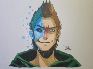 dibujo-el-rubius-omg-fanart-virtual-hero-anime