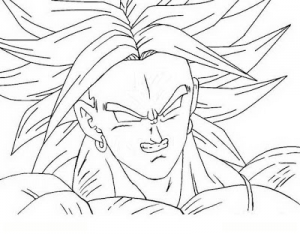 dibujo-para-colorear-de-broly-super-saiyan-legendario