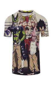 camiseta-3d-personajes-dragon-ball-z-chollo-navideño-broly-cell-buu-vegeta