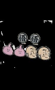 pendientes-buu-krilin-dragonball