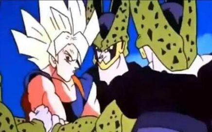 Goku-pelea-contra-cell-celula-mal-dibujado-animado
