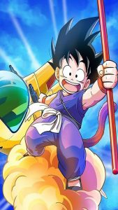goku-niño-nube-kinton-con-baston-magico-dragon-ball