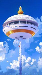 torre-de-karin-dragon-ball-goku-escalando-fan-art-fondo