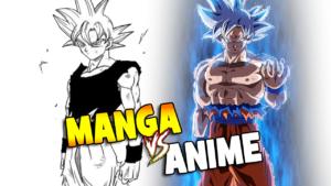 anime vs manga dragon ball super