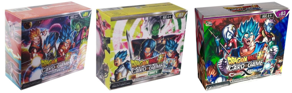 cajas de sobres dragon ball super card game